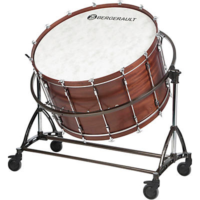"Bergerault Symphonic Series Bass Drum, 40x22"" With Suspension Stand"