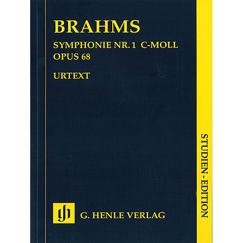 G. Henle Verlag Symphony C Minor Op. 68, No. 1 (Study Score) Henle Study Scores Series Softcover by Johannes Brahms