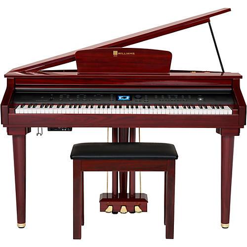 Williams Symphony Grand Digital Piano with Bench Mahogany Red