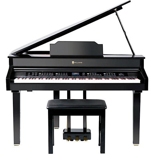 Williams Symphony Grand II Digital Micro Grand Piano With Bench Black 88 Key