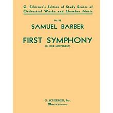 G. Schirmer Symphony No. 1, Op. 9 (Study Score) Study Score Series Composed by Samuel Barber