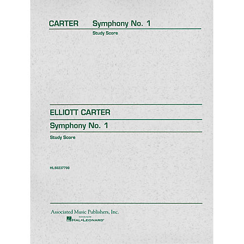 Associated Symphony No. 1 (Study Score) Study Score Series Composed by Elliott Carter
