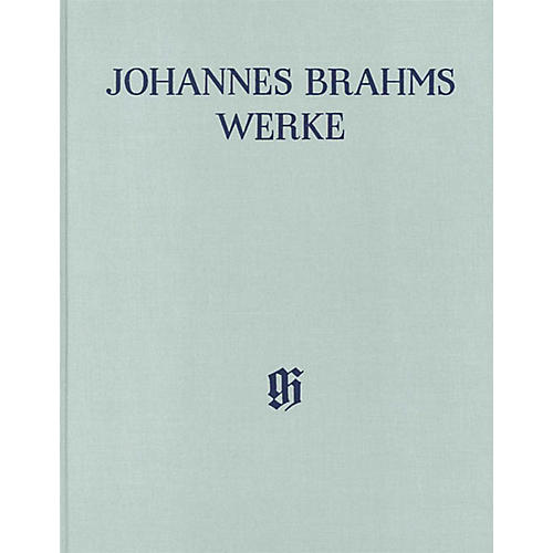 G. Henle Verlag Symphony No. 1 in C minor, Op. 68 Henle Edition Hardcover by Johannes Brahms Edited by Robert Pascall