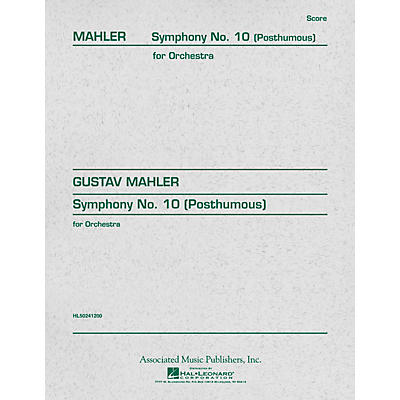 Associated Symphony No. 10 (Study Score) Study Score Series Composed by Gustav Mahler