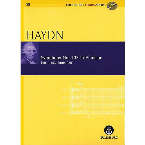 Eulenburg Symphony No. 103 in E-flat Maj Hob I:103 Drum Roll Eulenberg Audio plus Score W/ CD by Haydn