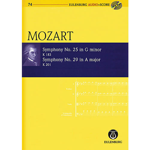 Eulenburg Symphony No. 25 G Minor K183 and Symphony No. 29 A Major K201 Eulenberg Audio plus Score by Mozart