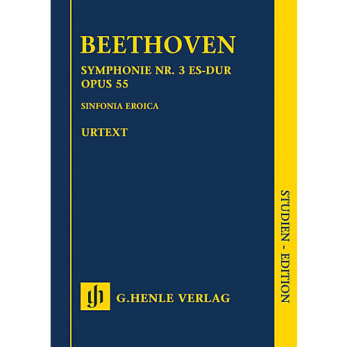 G. Henle Verlag Symphony No. 3 in E-flat Major Op. 55 (Sinfonia Eroica) Henle Study Scores by Ludwig van Beethoven