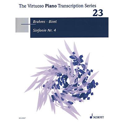 Schott Symphony No. 4 Op. 98 (Piano Transcription by Idil Biret (2017)) Piano Series Softcover