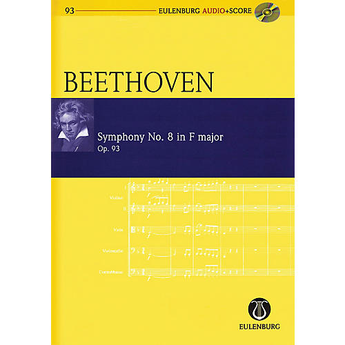 Schott Symphony No. 8 in F Major, Op. 93 Study Score Series Softcover with CD Composed by Ludwig van Beethoven