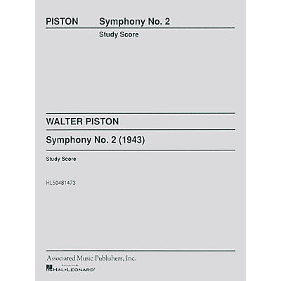 Associated Symphony No2 Study Score Study Score Series Composed by W Piston