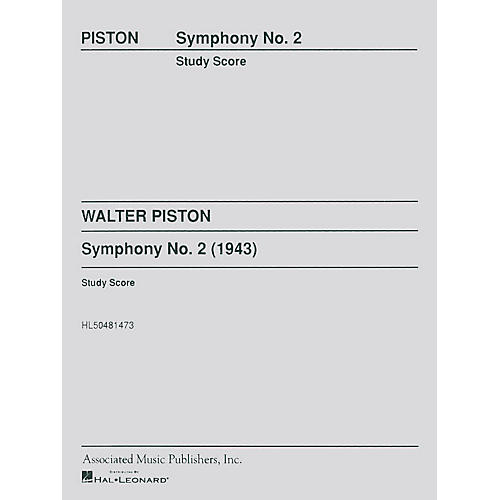 Associated Symphony No2 Study Score Study Score Series Composed by W Piston