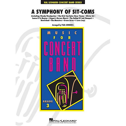 Hal Leonard Symphony of Sitcoms - Young Concert Band Level 3 arranged by Paul Jennings