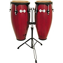 Synergy Conga Set with Stand Red