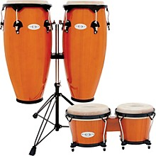 Synergy Conga Set with Stand and Bongos Amber