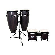 Synergy Conga Set with Stand and Bongos Transparent Black