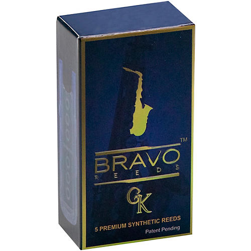 Bravo Reeds Synthetic Alto Saxophone Reed 5 Pack 2.5