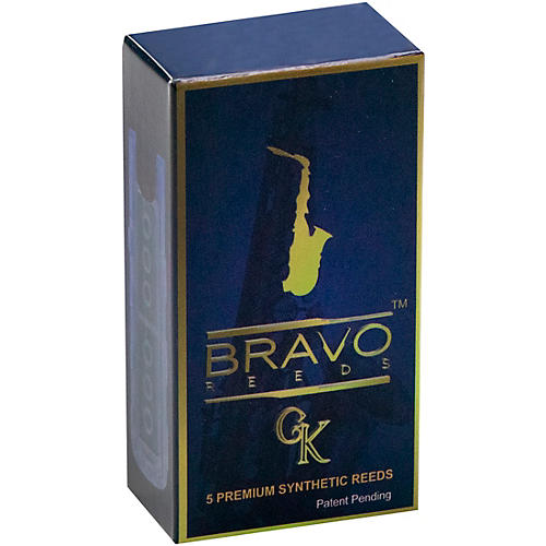 Bravo Reeds Synthetic Alto Saxophone Reed 5 Pack 3