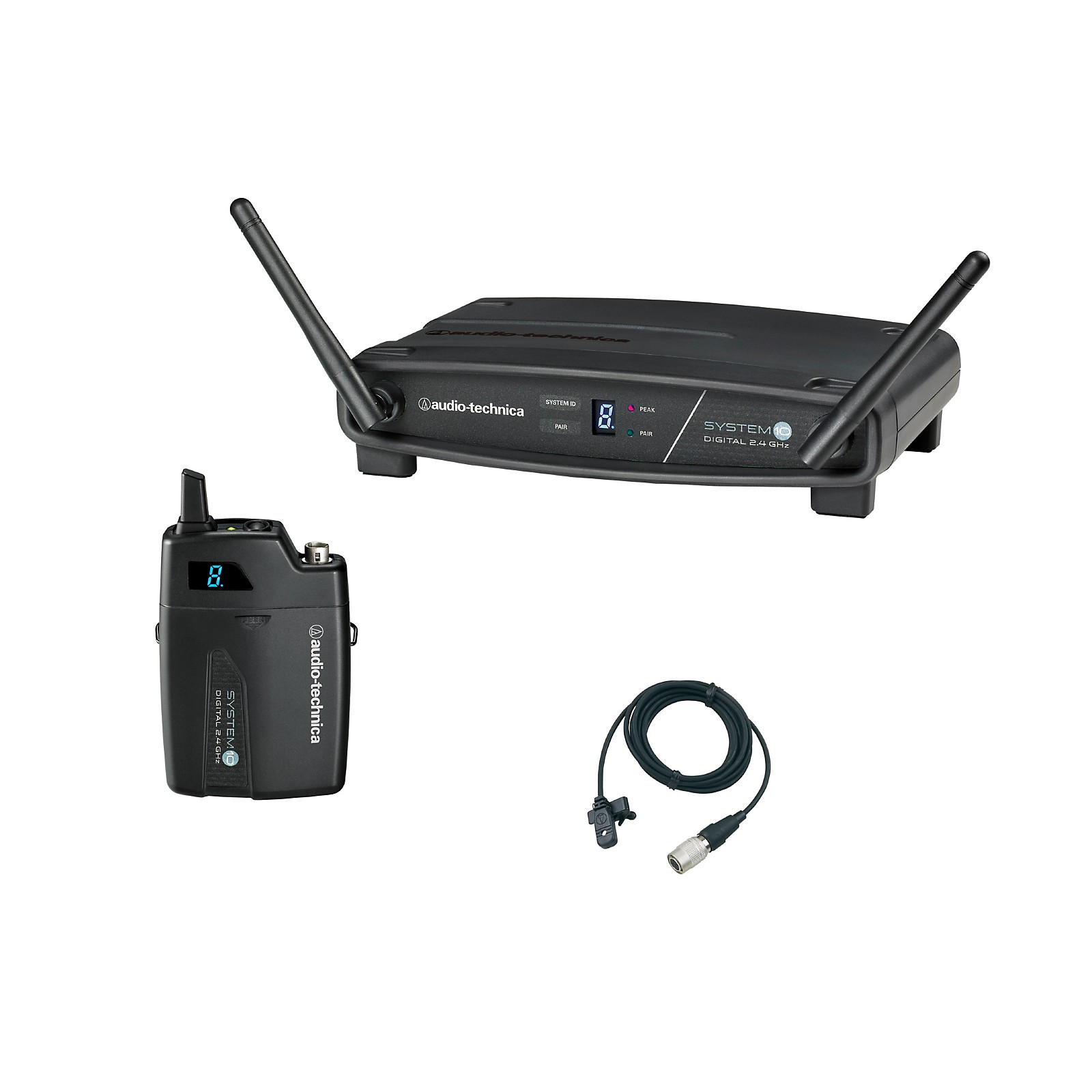 Audio-Technica System 10 ATW-1101/H92-TH 2.4GHz Digital Wireless Lavalier System