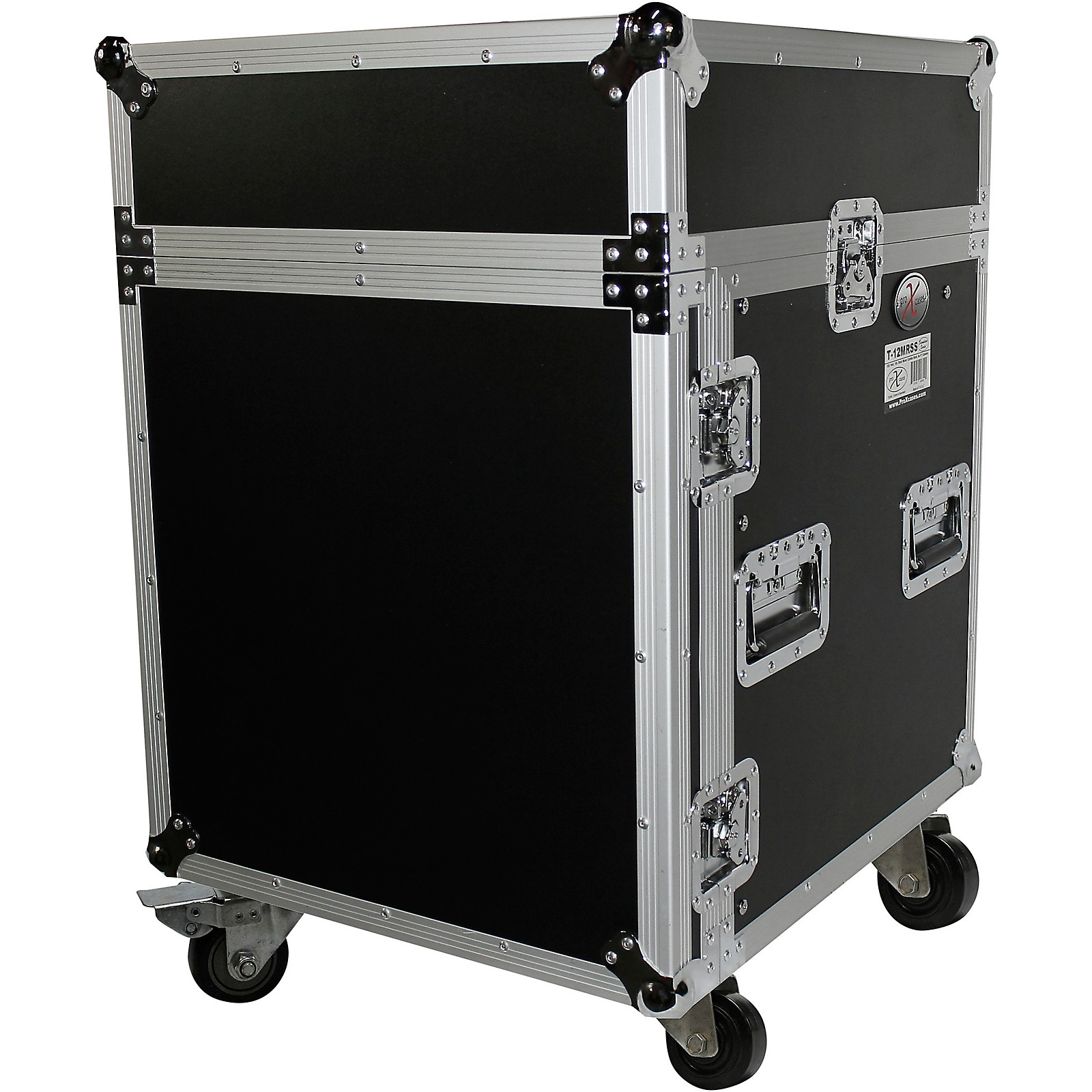 ProX T-12MRSS 12U Rack and 10U Top Mixer DJ Combo ATA Flight Road Case
