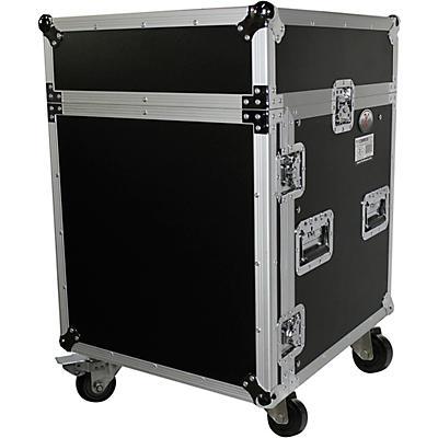 ProX T-12MRSS 12U Rack and 10U Top Mixer DJ Combo ATA Flight Road Case