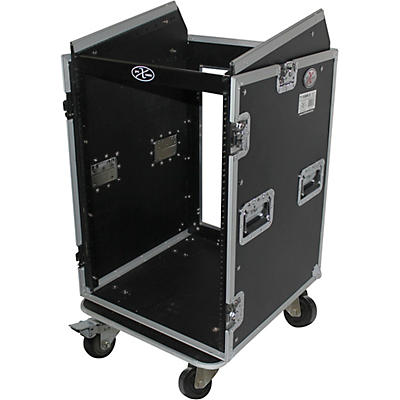 ProX T-16MRSS 16U Rack x 10U Top Mixer DJ Combo Flight Case
