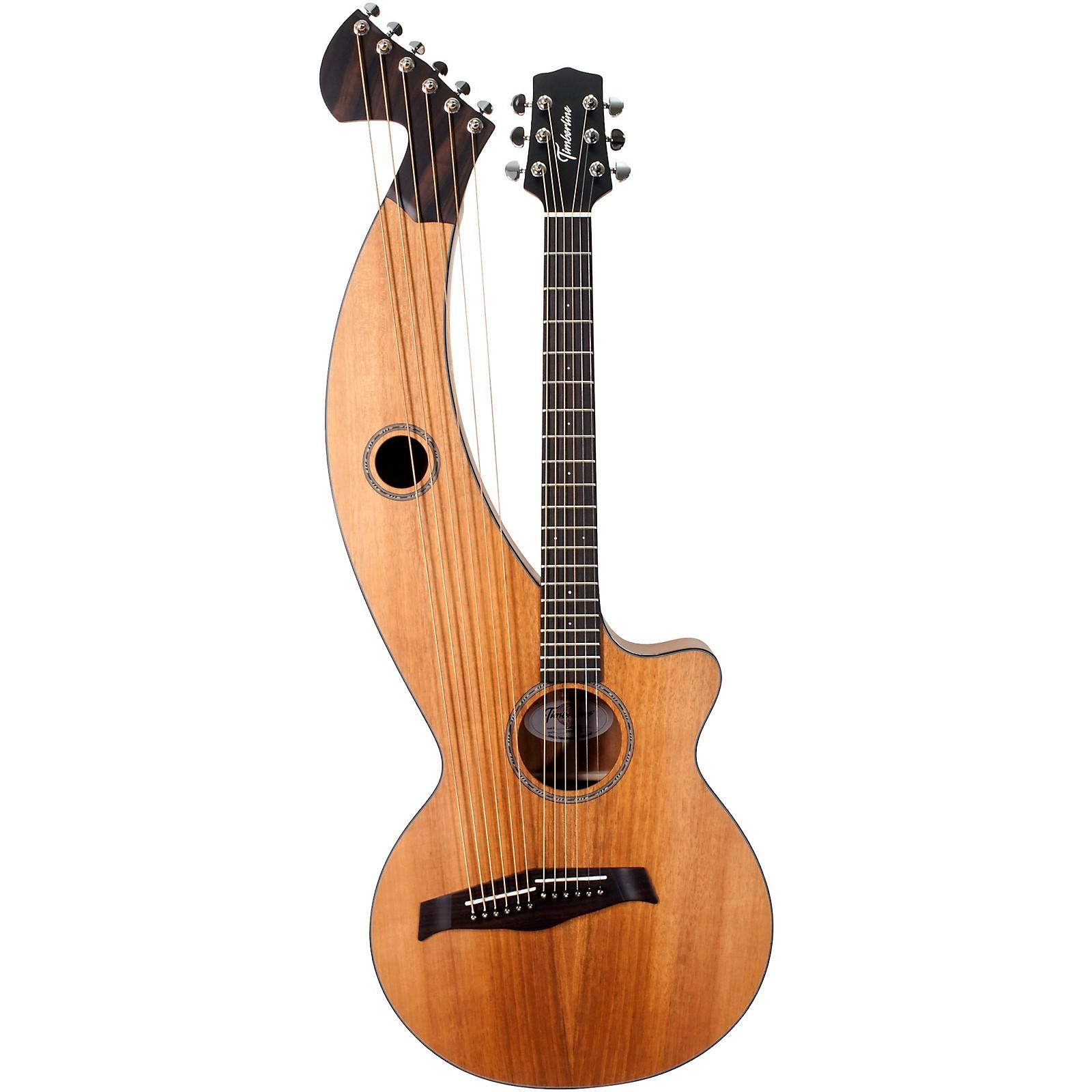 Timberline Guitars T20HGc Solid Tropical Mahogany 12-String Cutaway Acoustic-Electric Harp Guitar