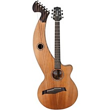 Timberline Guitars T20HGc Solid Tropical Mahogany 12-String Cutaway Acoustic Harp Guitar