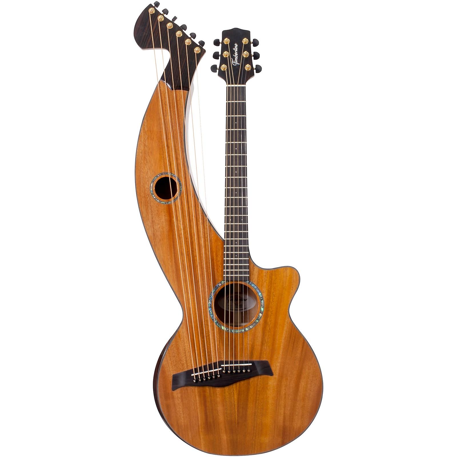 Timberline Guitars T30HGc Solid Tropical Mahogany 12-String Cutaway Acoustic-Electric Harp Guitar