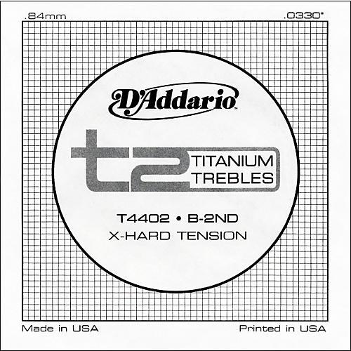 D'Addario T4402 T2 Titanium X-Hard Single Classical Guitar String