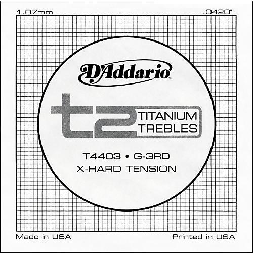 D'Addario T4403 T2 Titanium X-Hard Single String