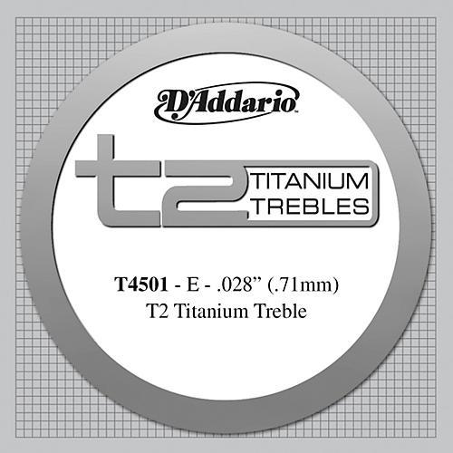 D'Addario T4501 T2 Titanium Normal Single String