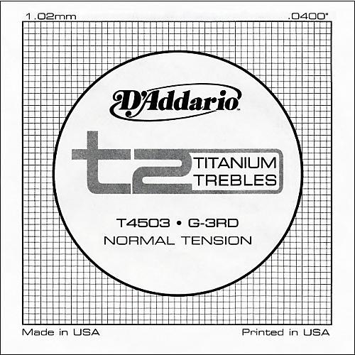 D'Addario T4503 T2 Titanium Normal Single Guitar String