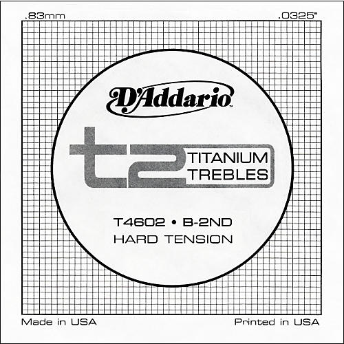 D'Addario T4602 T2 Titanium Hard Single Guitar String