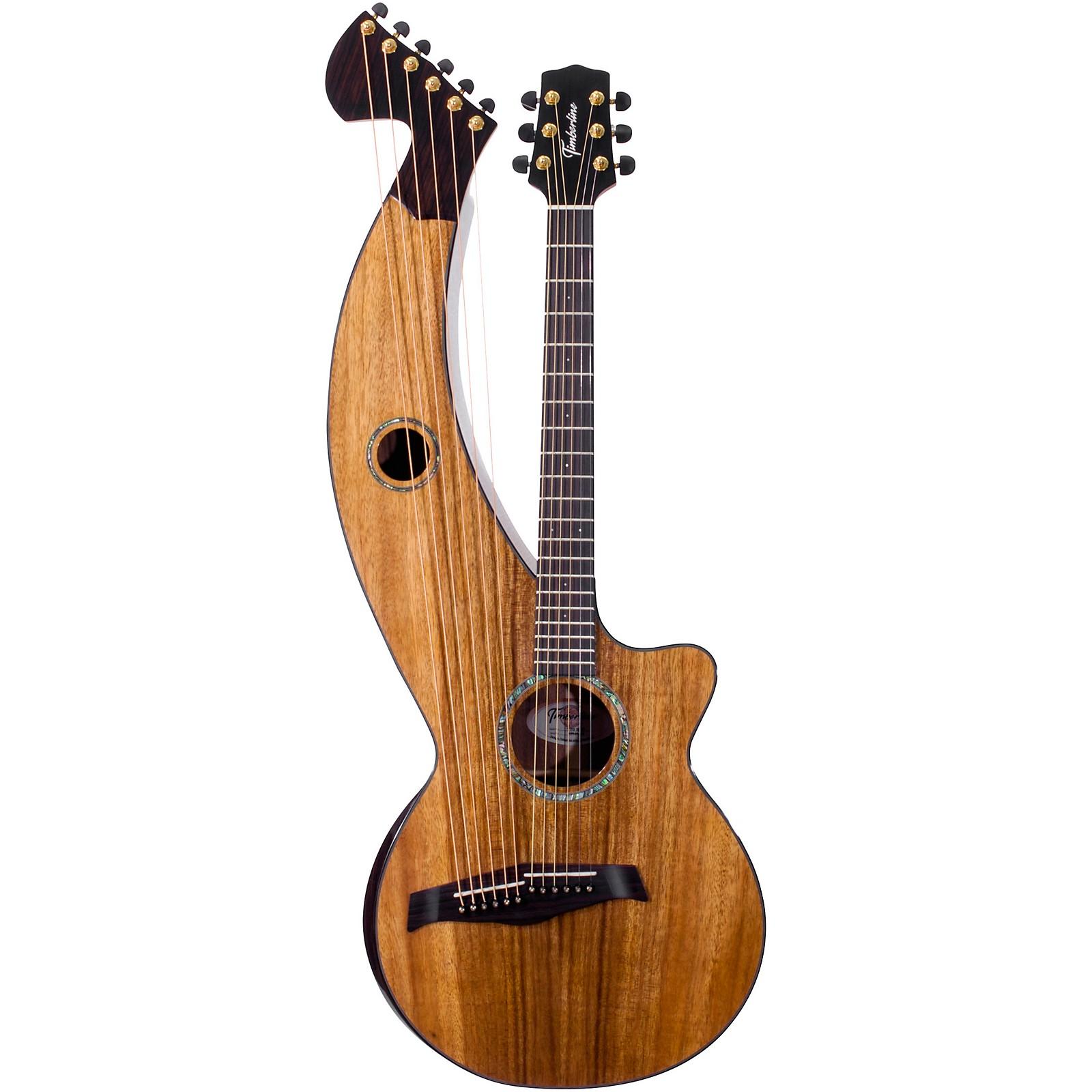 Timberline Guitars T70HGc Solid Silkwood 12-String Cutaway Acoustic-Electric Harp Guitar