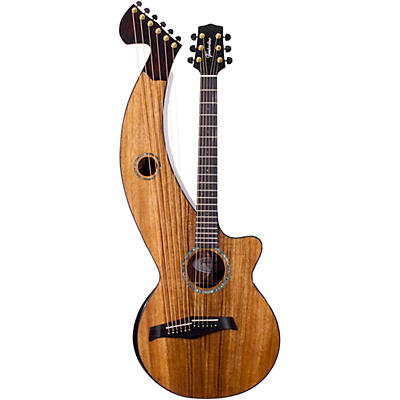 Timberline Guitars T70HGc Solid Silkwood 12-String Cutaway Acoustic-Electric Harp Guitar