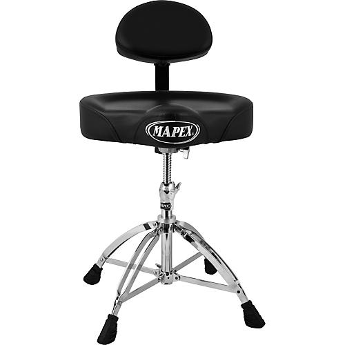 Mapex T775 Saddle Top Drum Throne with Back Rest and 4 Double Braced Legs