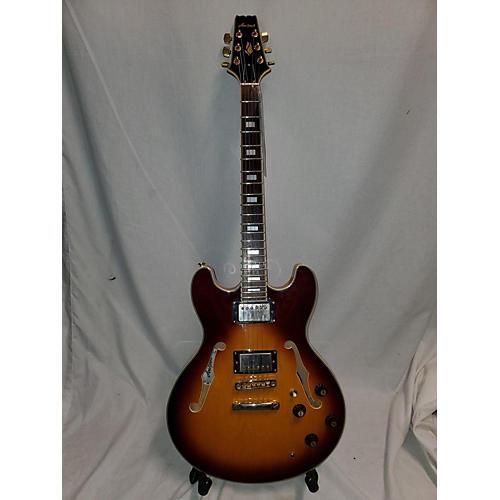 Aria TA-62 Hollow Body Electric Guitar Sunrise Tea Burst
