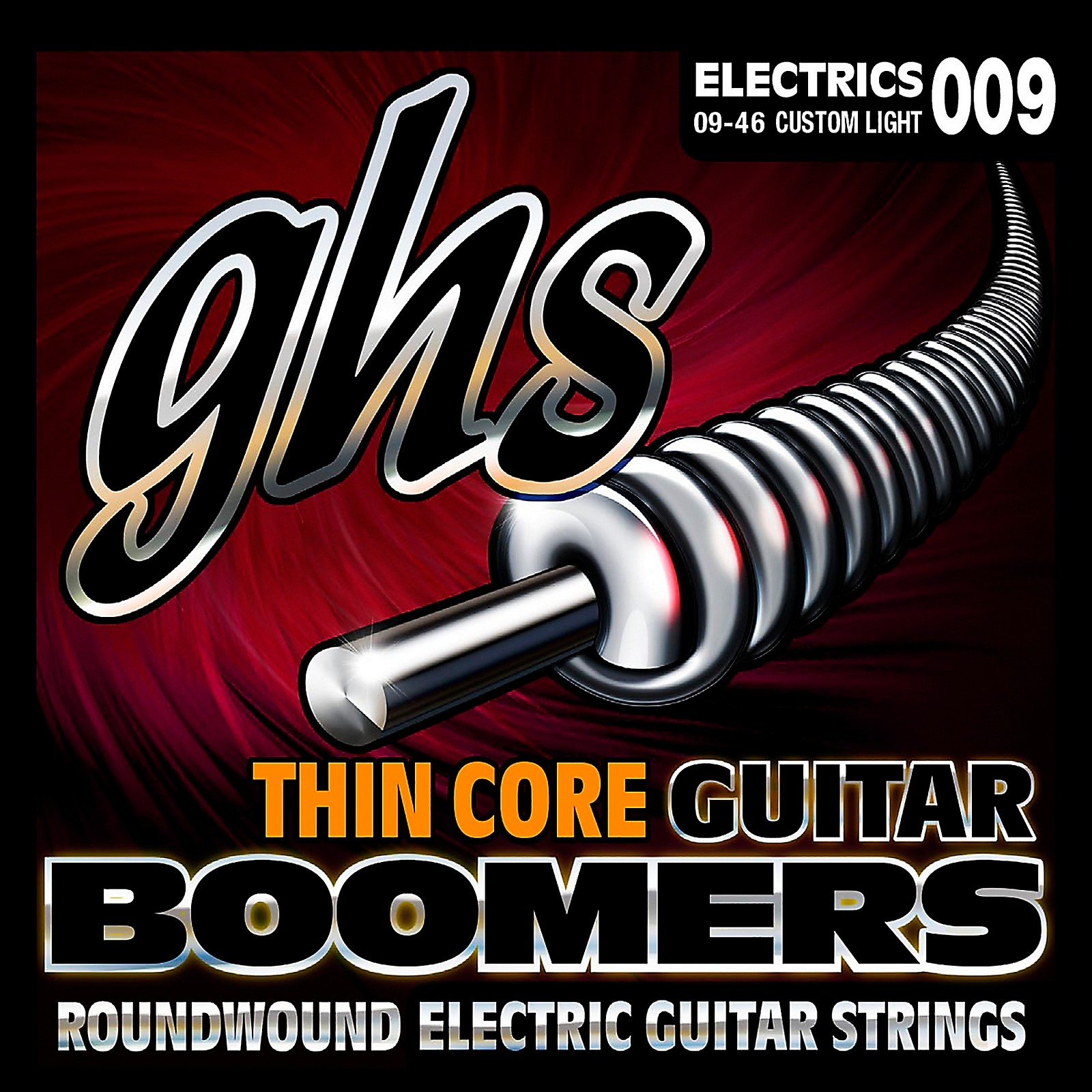 GHS TC-GBCL Thin Core Boomers Custom Light Electric Guitar Strings (9-46)