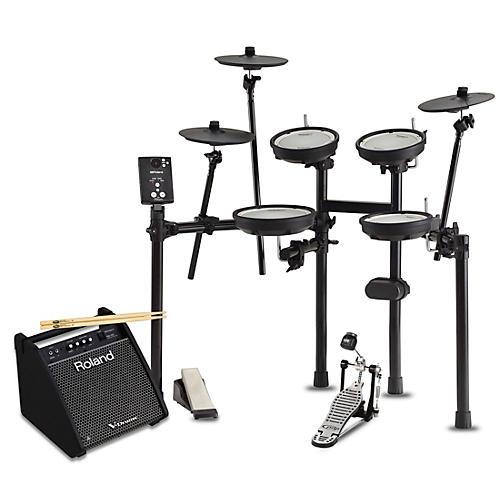 Roland TD-1DMK Electronic Drum Set with PM100 V-Drum Speaker System Starter Bundle