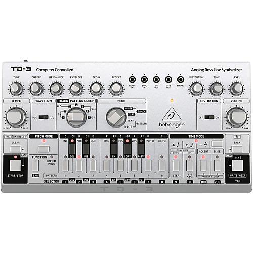 behringer td 3 analog bass line synthesizer silver musician 39 s friend. Black Bedroom Furniture Sets. Home Design Ideas