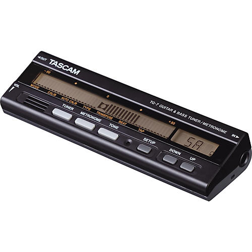 Tascam TG-7 Guitar and Bass Tuner/Metronome