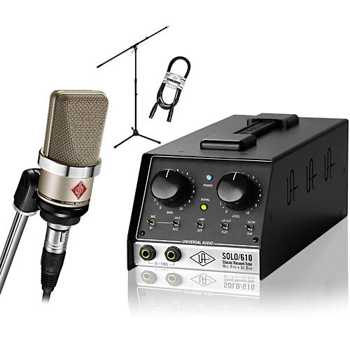 Neumann TLM 102 Nickel with Universal Audio SOLO/610 Package