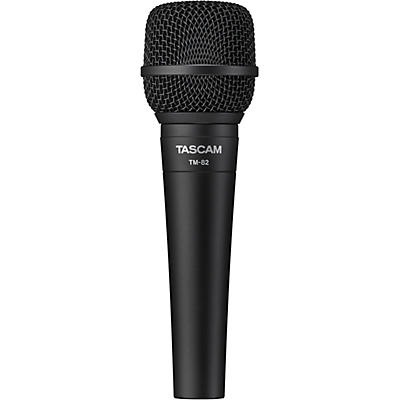 TASCAM TM-82 Dynamic Microphone for Recording Vocals and Instruments