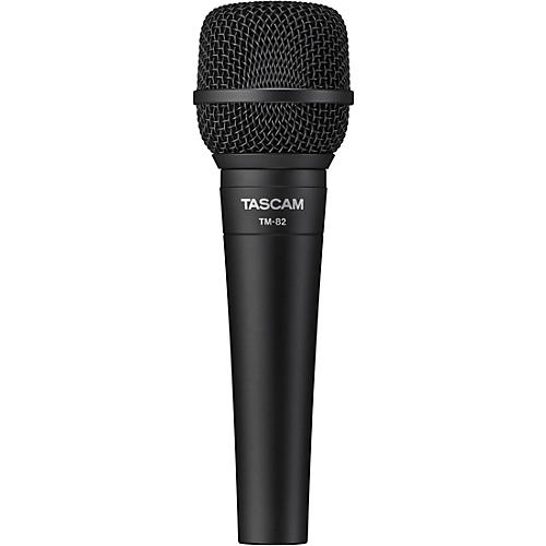 TASCAM TM-82 Dynamic Microphone for Recording Vocals and Instruments Black