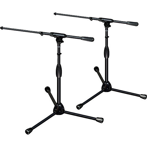 Ultimate Support TOUR-T-SHORT-T Pkg-tripod base/telescoping boom,short height 2-Pack