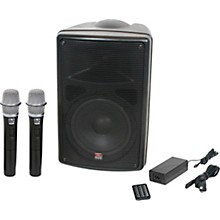 Open Box Galaxy Audio TQ8-24HHN Traveler Quest 8 TQ8 Battery Powered PA Speaker With 2 Receivers And Two Handheld Microphones