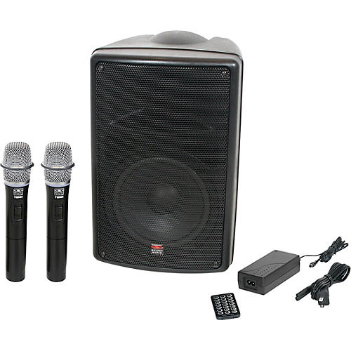 Galaxy Audio TQ8-24HHN Traveler Quest 8 TQ8 Battery Powered PA Speaker With 2 Receivers And Two Handheld Microphones Condition 1 - Mint