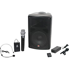 Open Box Galaxy Audio TQ8-24HSN Traveler Quest 8 All-In-One Portable PA System With Two Receivers, One Handheld Microphone, and One Headset Microphone