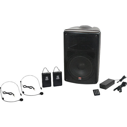 Galaxy Audio TQ8-24SSN Traveler Quest 8 TQ8 Battery Powered PA Speaker System With 2 Receivers and 2 Headset Microphones
