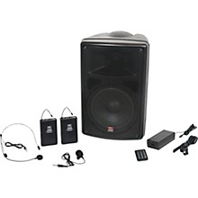 Open Box Galaxy Audio TQ8-24SVN Traveler Quest 8 TQ8 Battery Powered PA Speaker System With Two Receivers, One Headset, and One Lavalier Microphone